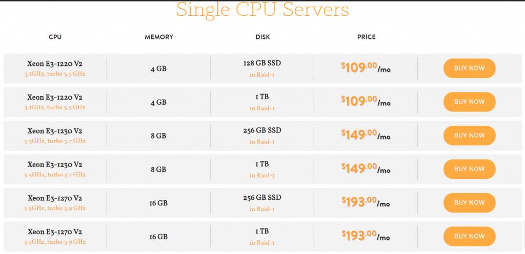 A Small Orange Dedicated Servers