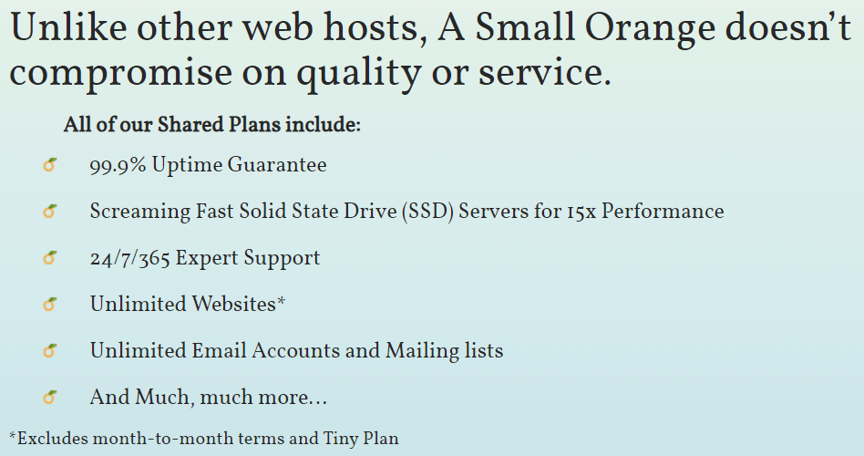 A Small Orange Shared Features