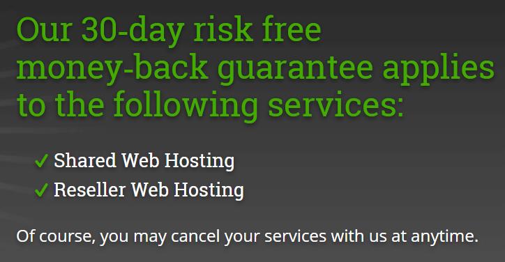HostPapa 30 Day Guarantee