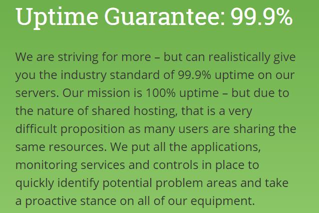 HostPapa Uptime Guarantee
