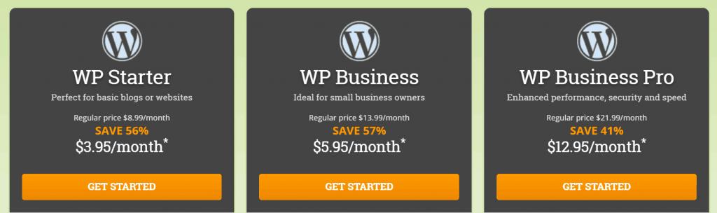 HostPapa WordPress Managed Plans