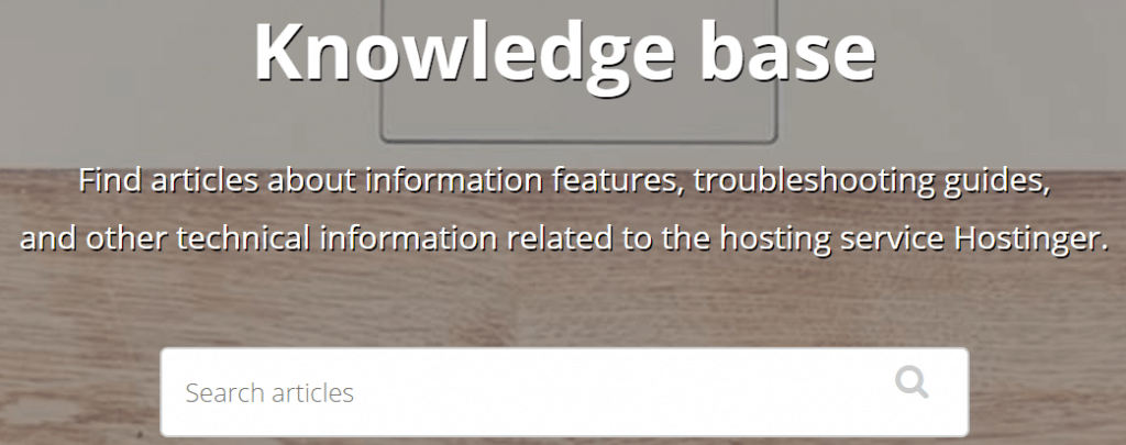 Hostinger Knowledge Base