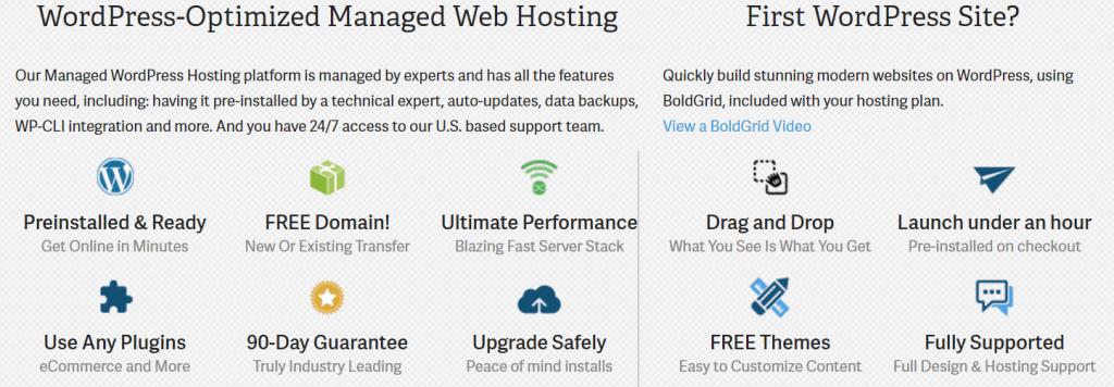 InMotion Hosting WordPress Features